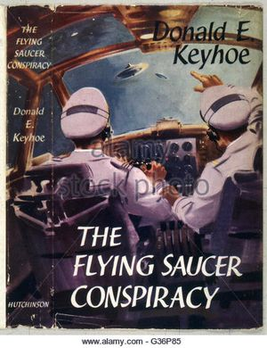http _n7.alamy.com_zooms_8cc5dfbc46da4bf2ba6cdd908204e6a0_the-flying-saucer-conspiracy-a-book-by-donald-e-keyhoe-the-cover-shows-g36p85
